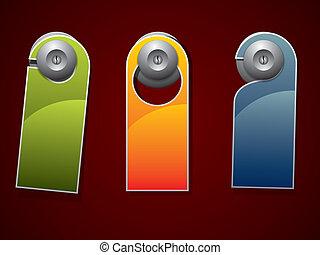 Door knob or hanger sign