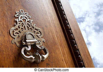 Door knocker - Close up of a door knocker of a French ...
