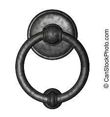 doorknocker on white background - 3d illustration