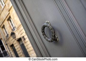 Door knocker of a stylish residence