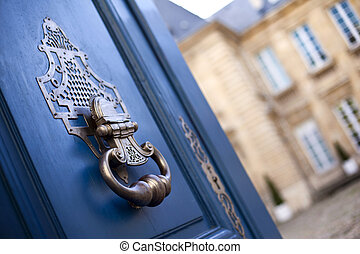 Door knocker - Stylish door knocker of a French mansion