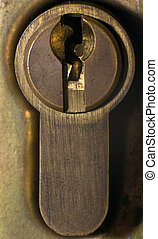 door lock close up