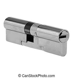 Door lock isolated on white