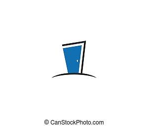 Door logo template