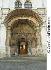 Door of a church with ornament