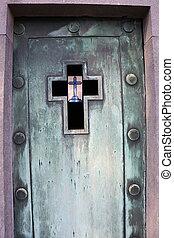 Door of a grave