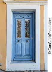 Door of a House in Symi Island, Greece