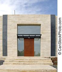 Door of a modern house