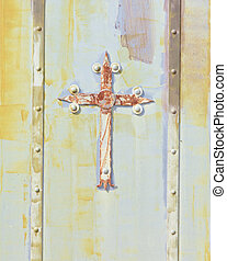 Door of a small church
