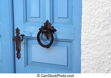 Door of a traditional greek house