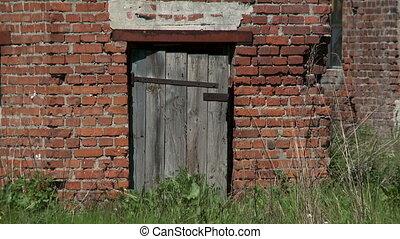 Door of abandoned building