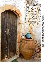 Door of an old building in Malia.