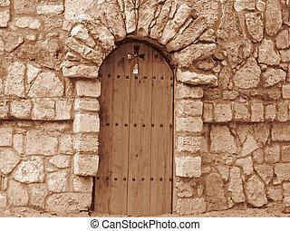 door of church