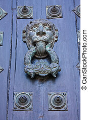 door of Glory. Cathedral - Santiago de Compostela, Spain