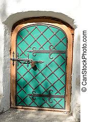 Door of old building in Vologda.