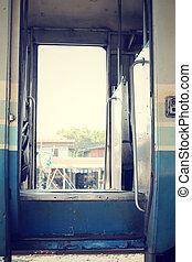 Door of railroad
