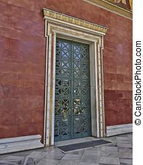 door of the academy of Athens, Greece