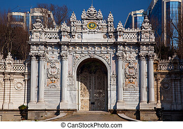 Door of the Dolmabahce palace, Istanbul, Turkey