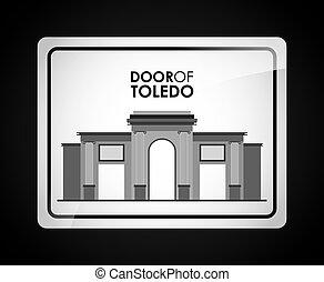 door of toledo design, vector illustration eps10 graphic