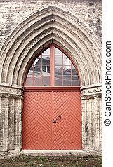 Door on the Catherine church on Catherine Lane (135 m) in...