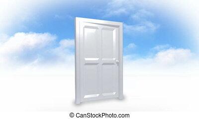 Door on the clouds
