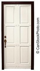 Door on white background