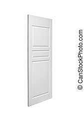 door on white background