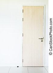 Door on white wall