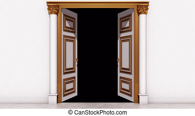 Door Opening Transition Alpha Channel