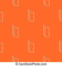 Door pattern vector orange