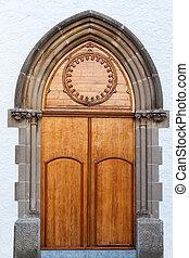 Door - Beautiful old church door in Barcelona