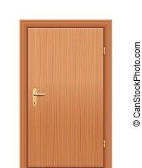 Door Right Hand Reverse - Wooden room door - to be opened as...