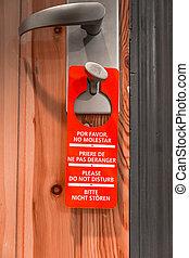 Door sign hanger - Do Not Disturb