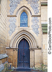 door southwark in london england old - southwark cathedral...