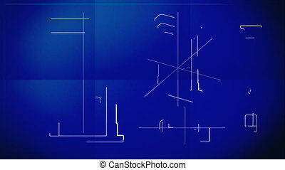 Door Technical Drawing Blueprint - Time lapse animation...