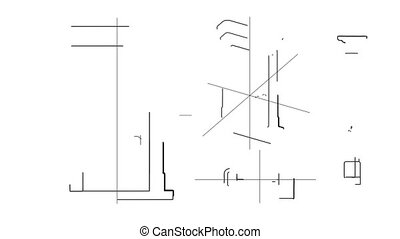 Door Technical Drawing Time Lapse - Time lapse animation...