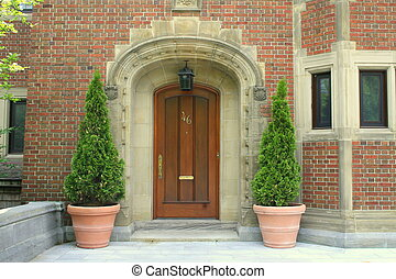 Door to a luxury home
