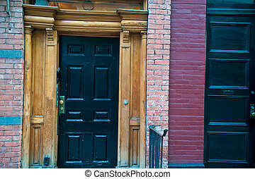 Door to an old apartment