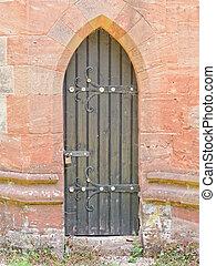 Door to Baptist Church in Lea Marston, UK.