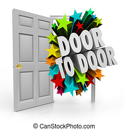 Door to Door Sales Solicitation Prospect New Customers Stars 3d