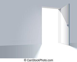 Door to freedom - An open door, a way to freedom