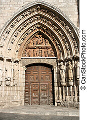 Burgos - Door to Iglesia de San Esteban (Church of Saint ...
