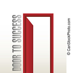 door to success illustration design