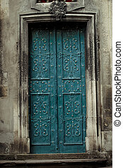 door to the cathedral in Lviv