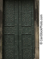 door to the church in Lviv