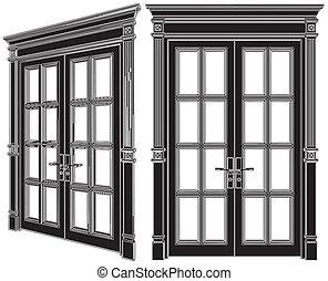 Door Vector 02 - Door Isolated Illustration Vector