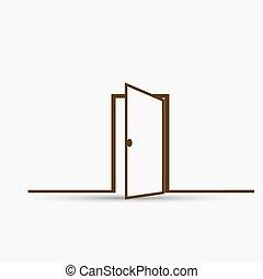 Door vector icon