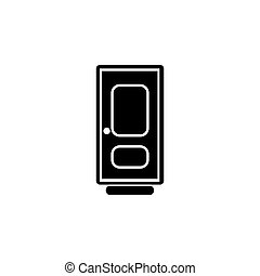 door vector icon. vector illustration black on white background