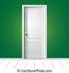 door., vektor, illustration