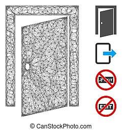 Door Web Vector Mesh Illustration